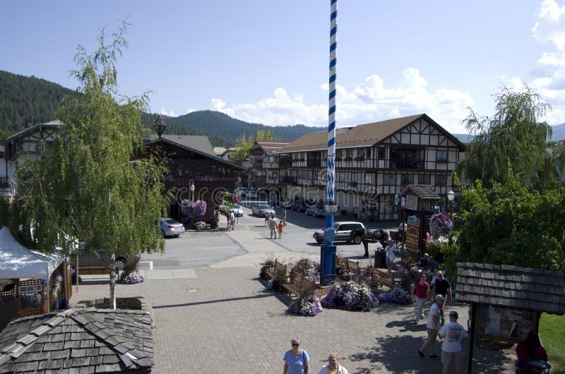 Leavenworth tyskstad fotografering för bildbyråer