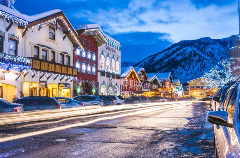 Leavenworth Washington, USA -02/14/16: härlig leavenworth med arkivfoton