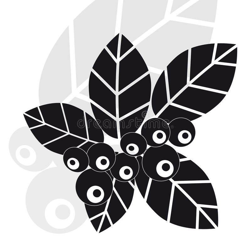 Download Leaves And Bilberry Berries Stock Vector - Image: 20703771