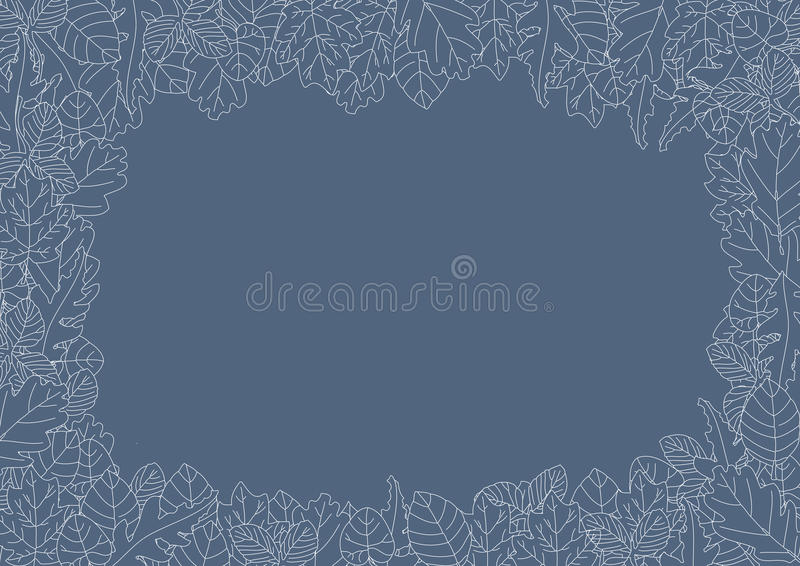 Leaves border royalty free stock images