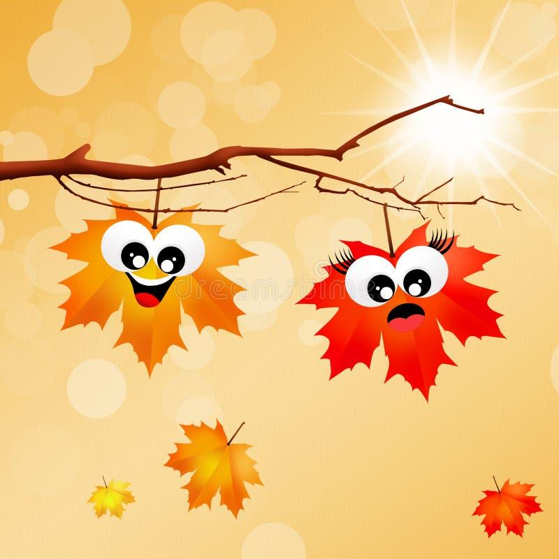 Leaves cartoon stock illustration. Illustration of autumn ...