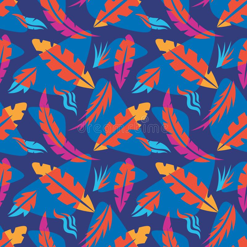 Leaves of exotic plants - creative vector illustration. Floral seamless pattern. Abstract concept background. Tropical summer. Nature. Graphic design element vector illustration