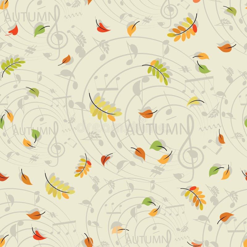 2008 leaves för leaf för dunge för torr fall för lufthöst guld- nära oaken oktober russia vänder som spolar yellow Musik av höste stock illustrationer