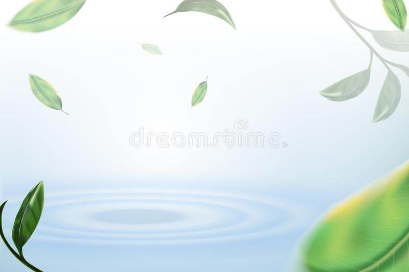 Leaves and fall on Water, Nature concept, natural background. Leaves and fall on Water wave, Nature concept, leaves on water background royalty free illustration