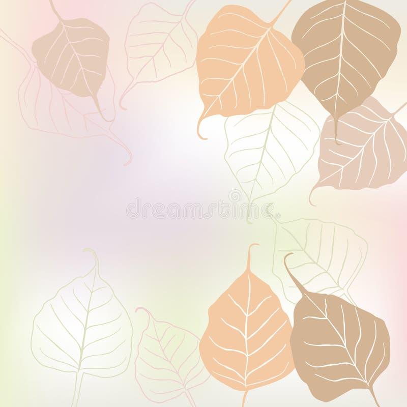 Leaves fjäder - vektorbakgrund royaltyfri illustrationer