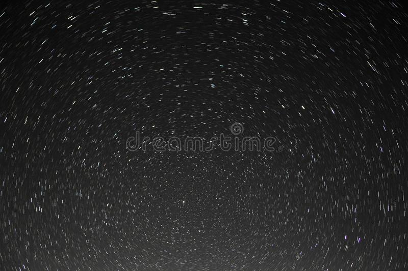 Beautiful star trails background stock image