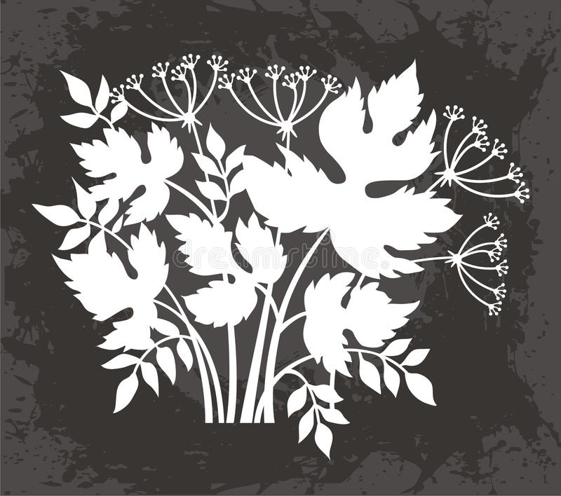 Download Leaves and Flowers Design stock vector. Image of distressed - 23988432