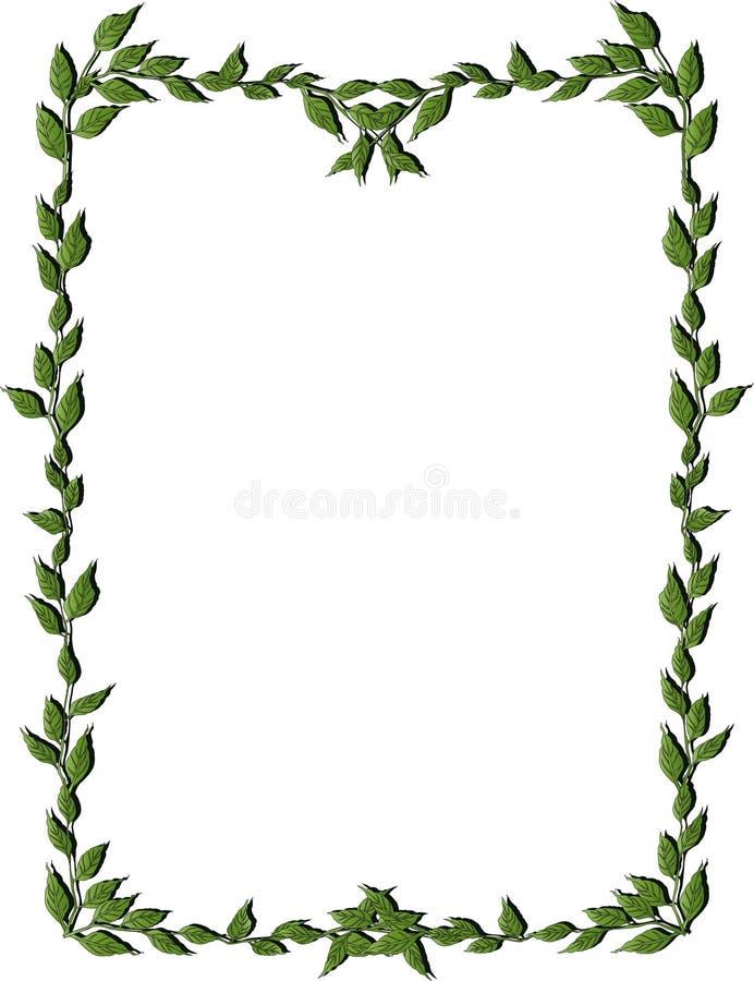 Download Leaves frame stock vector. Image of illustration, colored - 5216481
