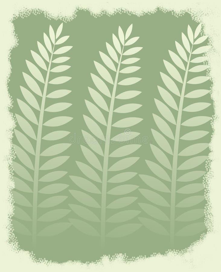 leaves gömma i handflatan vektor illustrationer