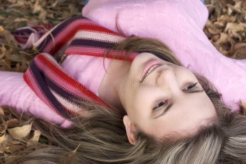 Download Leaves Girl stock image. Image of teenager, people, beauty - 457509