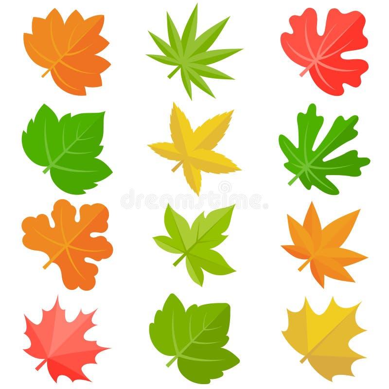Leaves icon royalty free illustration