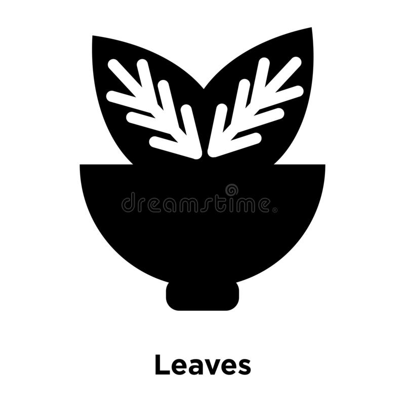 Leaves icon vector isolated on white background, logo concept of. Leaves sign on transparent background, filled black symbol royalty free illustration