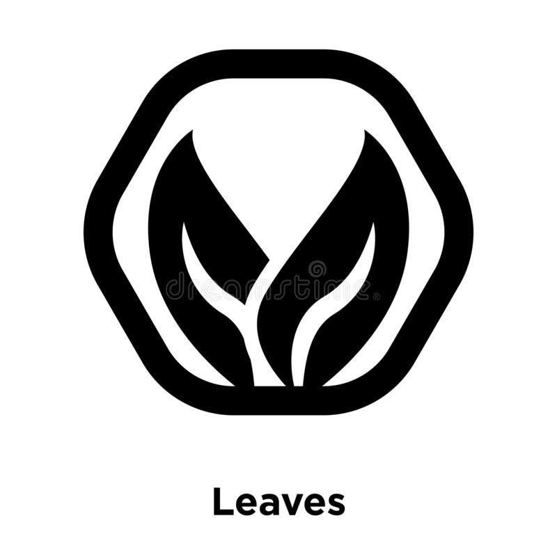 Leaves icon vector isolated on white background, logo concept of. Leaves sign on transparent background, filled black symbol stock illustration