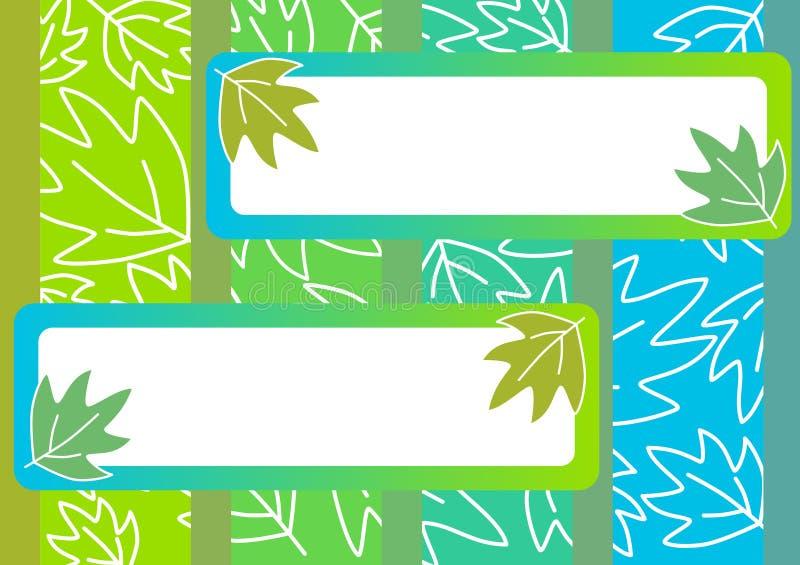 Leaves invitation card stock illustration