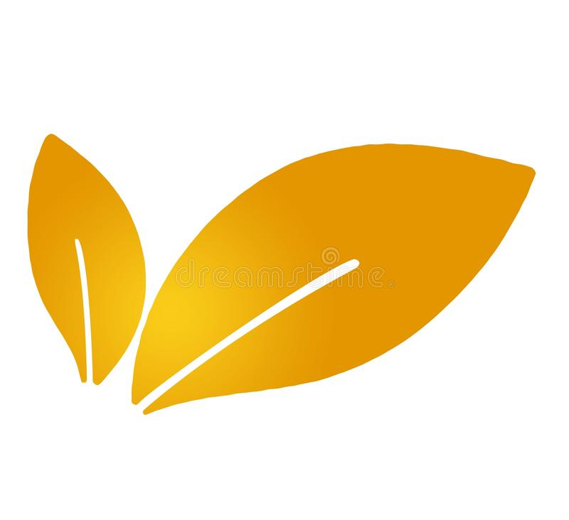 Leaves, leaf, plant, logo, ecology, eco, bio, people, wellness, green, nature symbol icon, design, autumn, orange stock images