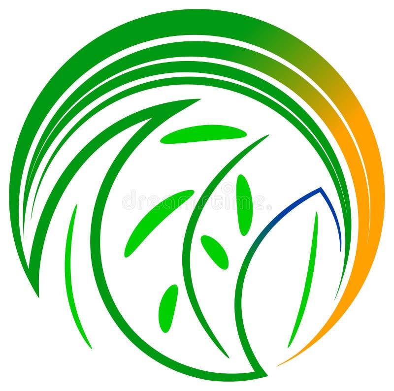 Leaves logo. Illustrated isolated leaves logo design royalty free illustration