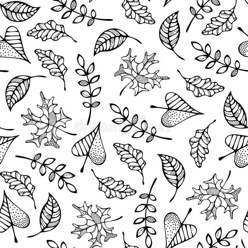 leaves mönsan den seamless vektorn stock illustrationer
