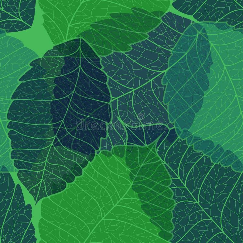 leaves mönsan seamless royaltyfri illustrationer