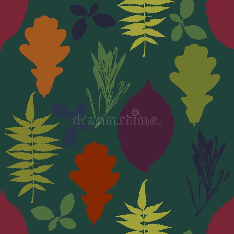 leaves mönsan seamless stock illustrationer