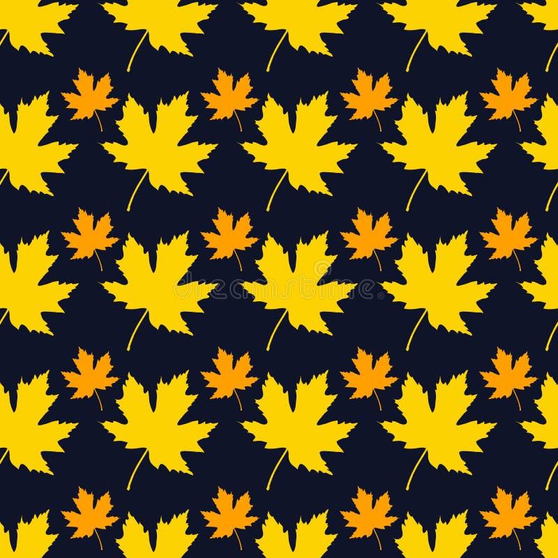 leaves mönsan seamless din bakgrundsdesign royaltyfri illustrationer