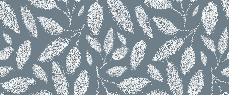 leaves m?nsan seamless stock illustrationer