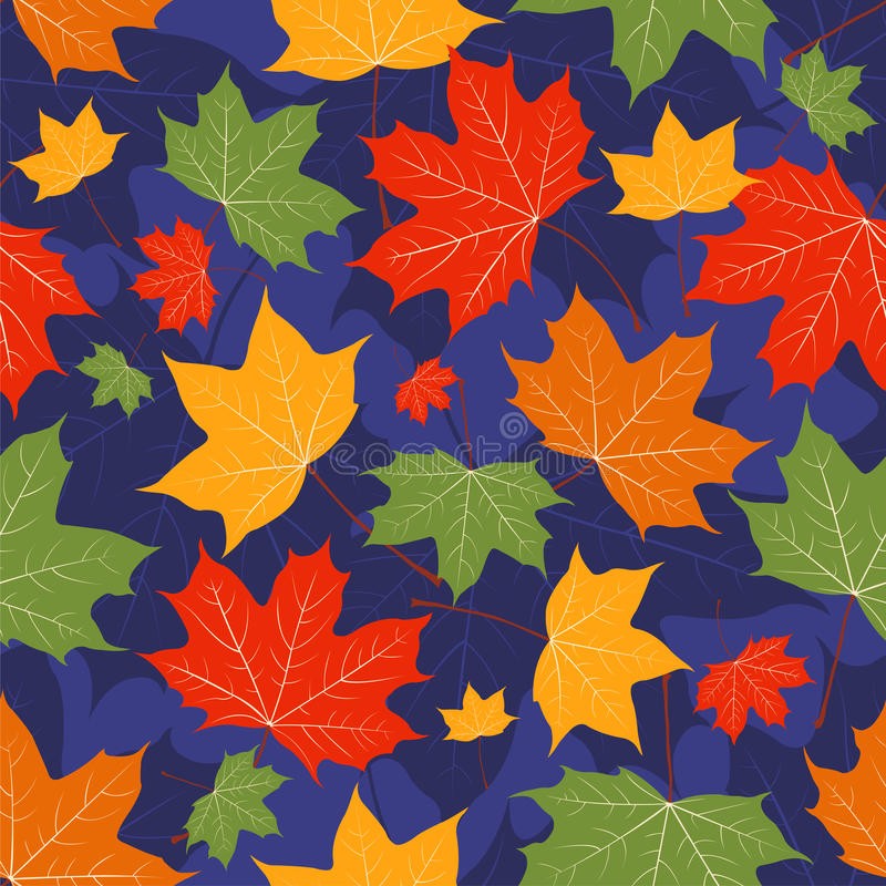Download Leaves Of A Maple On Dark Blue. Stock Vector - Image: 21422844