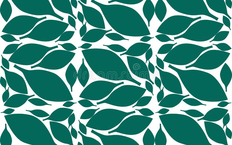 Leaves pattern with endless background royalty free illustration