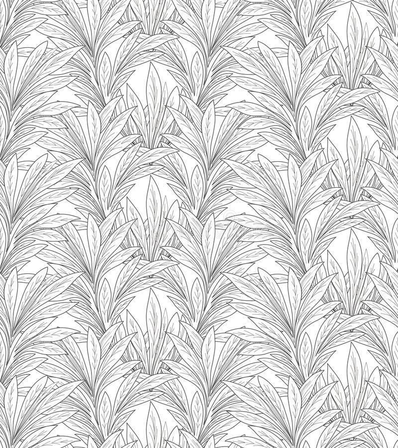 Leaves pattern. Leaf seamless backgound. Leaves seamless pattern. Floral vintage background in victorian style. Floral tiled border. Flourish ornament. Plant royalty free illustration