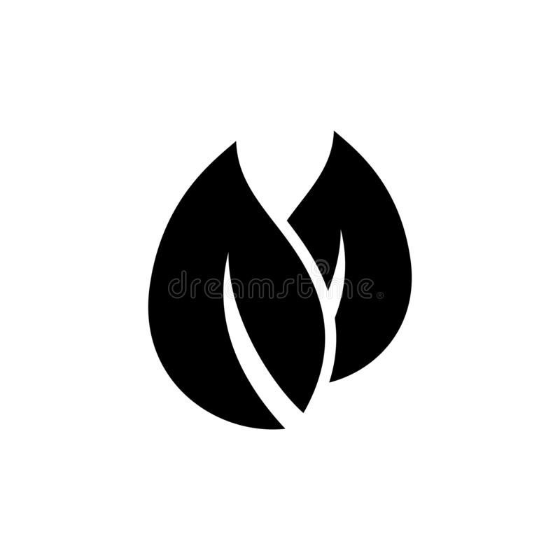Leaves of a plant symbol sign icon. Simple glyph, flat vector of Web icons for UI and UX, website or mobile application. On white background vector illustration