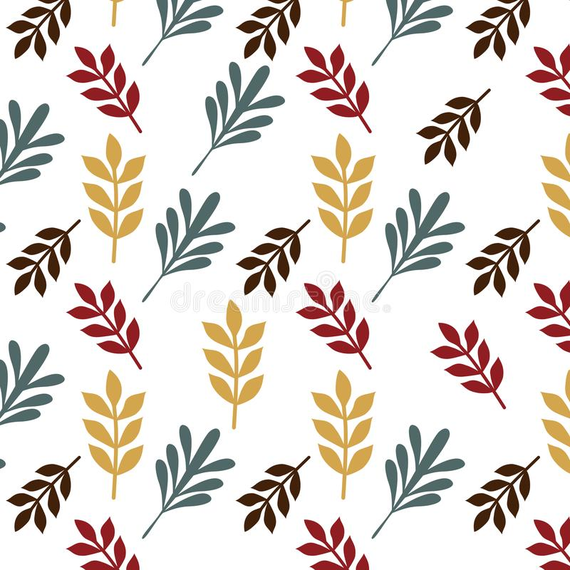 Free Leaves Retro Seamless Pattern Isolated Background Vector Stock Photo - 110574380