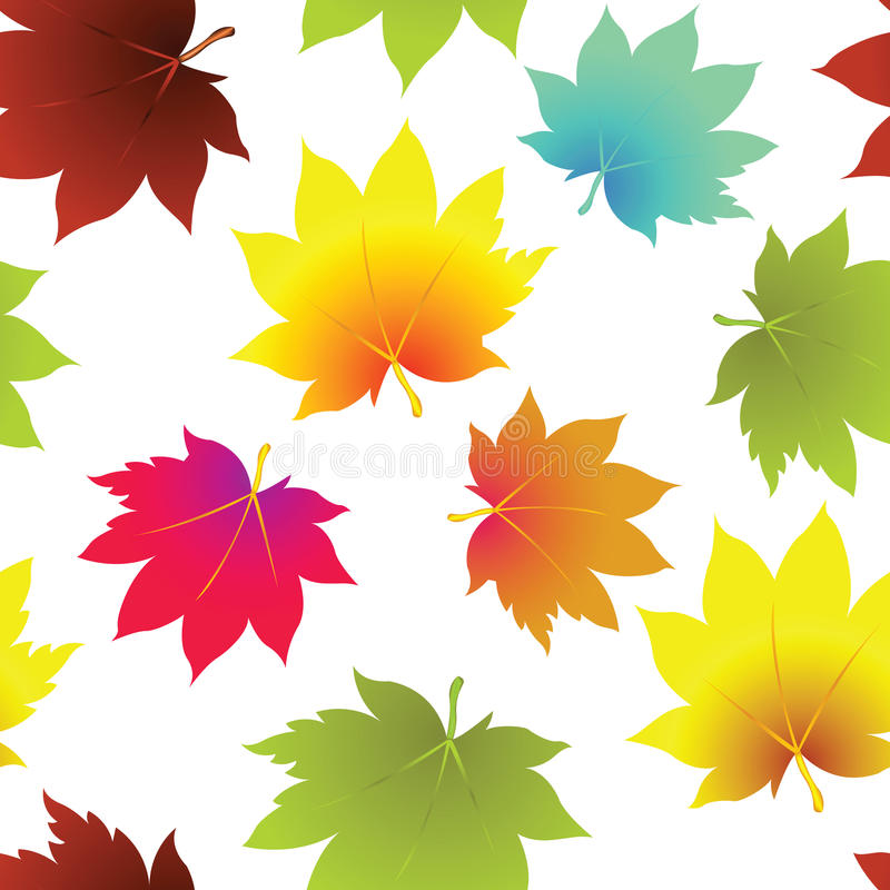 Leaves seamless pattern royalty free stock photos