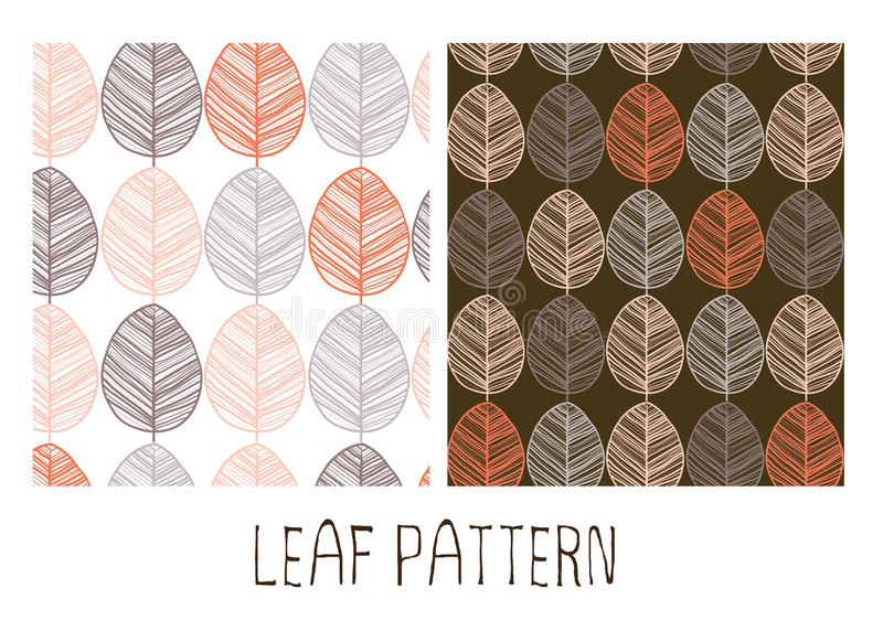 Leaves seamless pattern stock photo