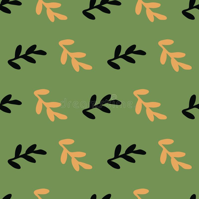 Leaves seamless repeat pattern background. Perfect for kids rooms and textile design vector illustration