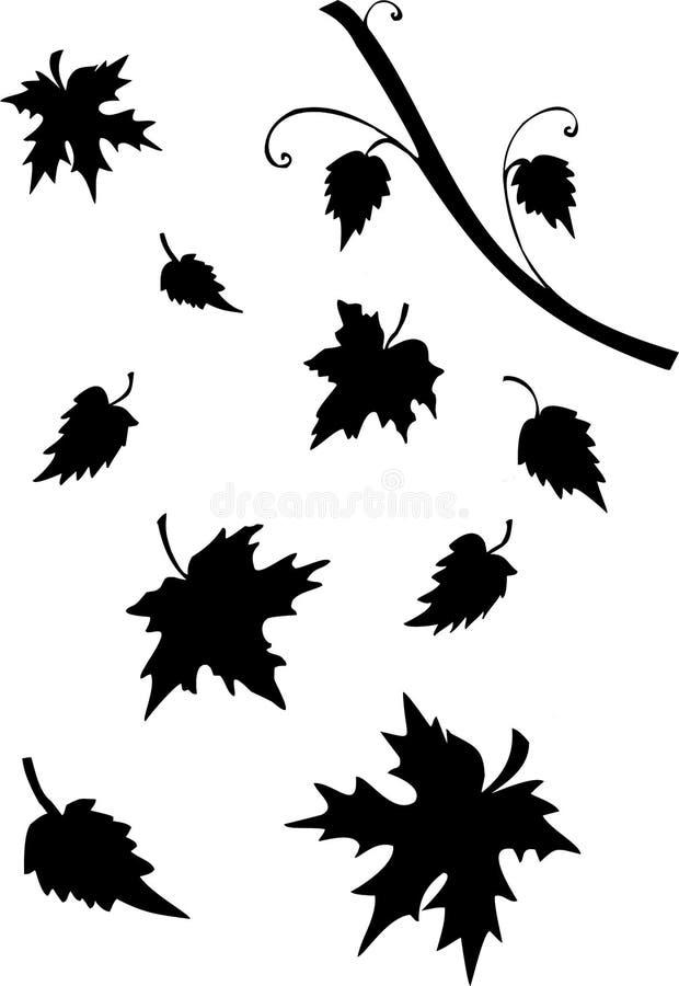 Leaves Silhouette Stock Illustration