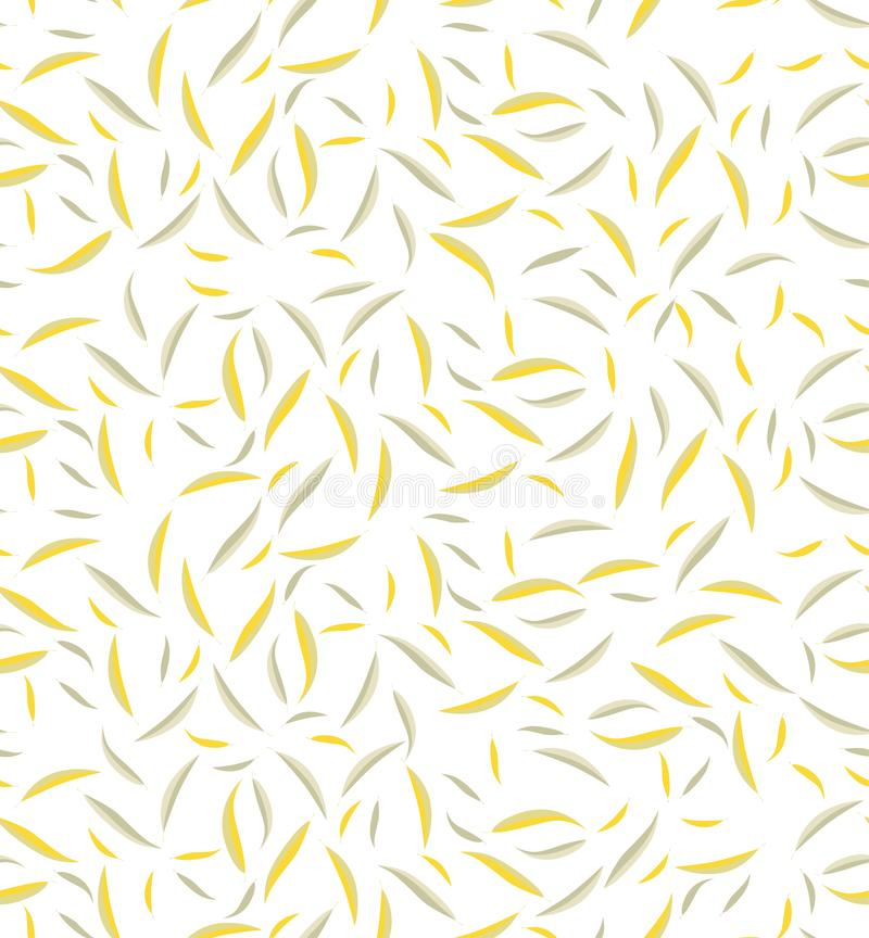 Vector illustration of seamless pattern of leaves. stock illustration