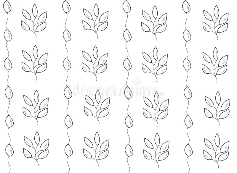 Leaves vector seamless pattern. ornament for fabric, wrapping and textile products royalty free illustration