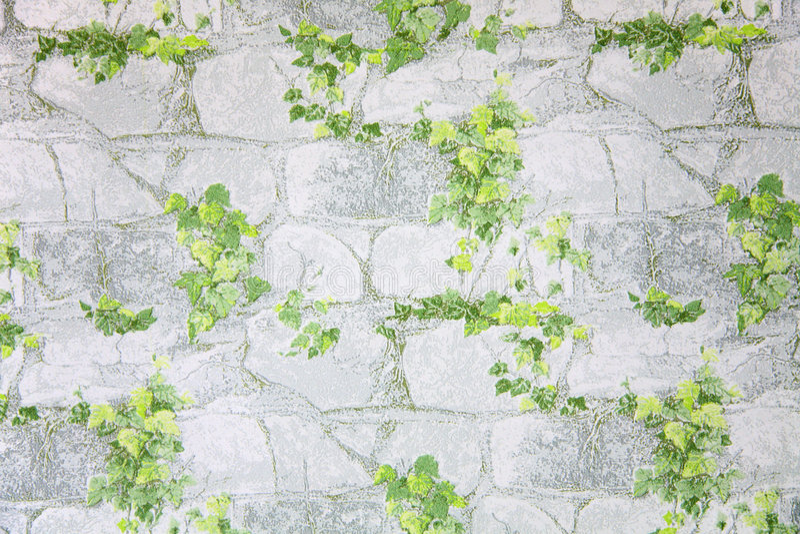 leavesstenwallpaper royaltyfri illustrationer