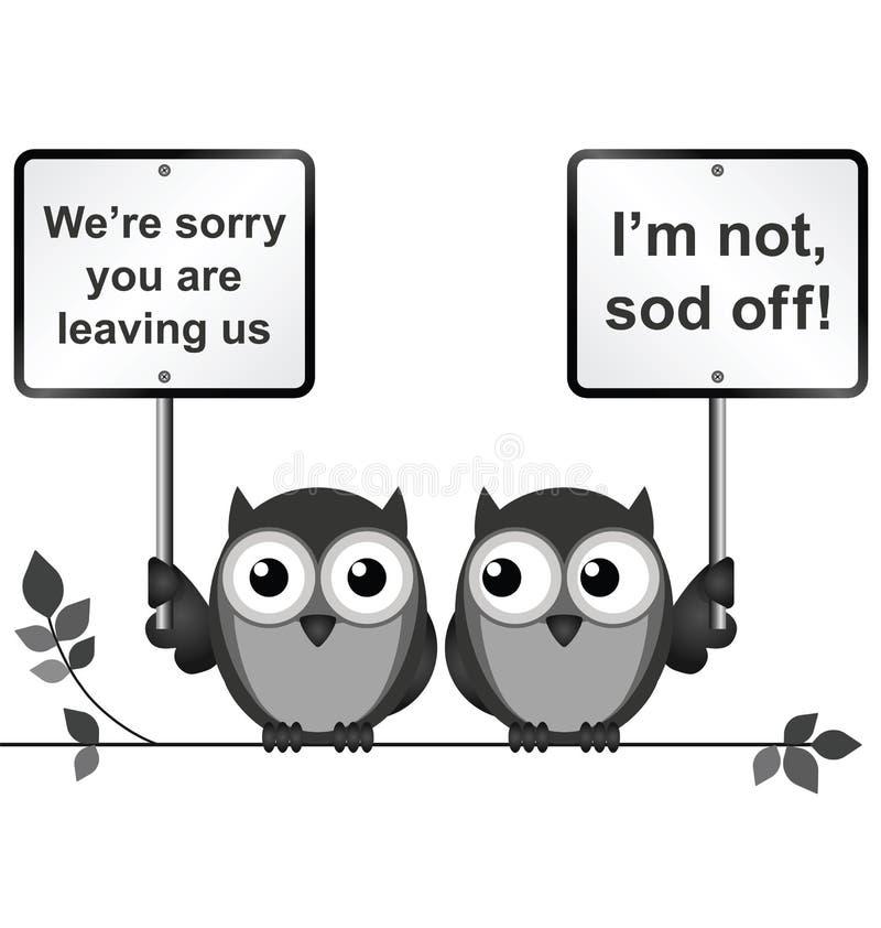 leaving vektor illustrationer