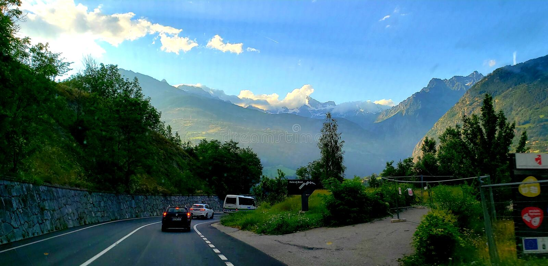 Aosta valley, Italy_2019 royalty free stock photography