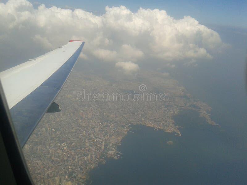 Leaving maracaibo venezuela. A View from the sky of Maracaibo venezuela stock image