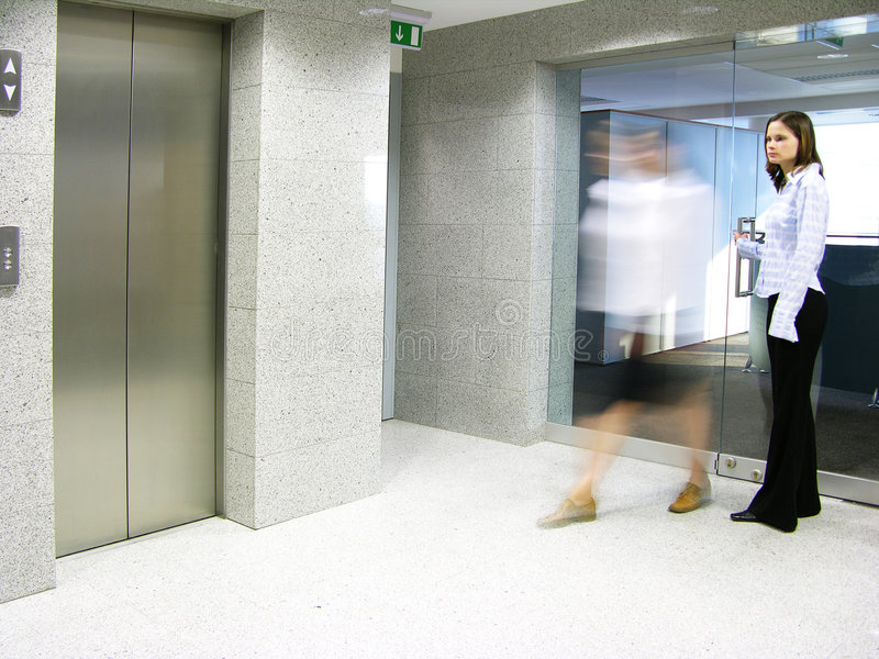 Leaving the office 2 royalty free stock photo