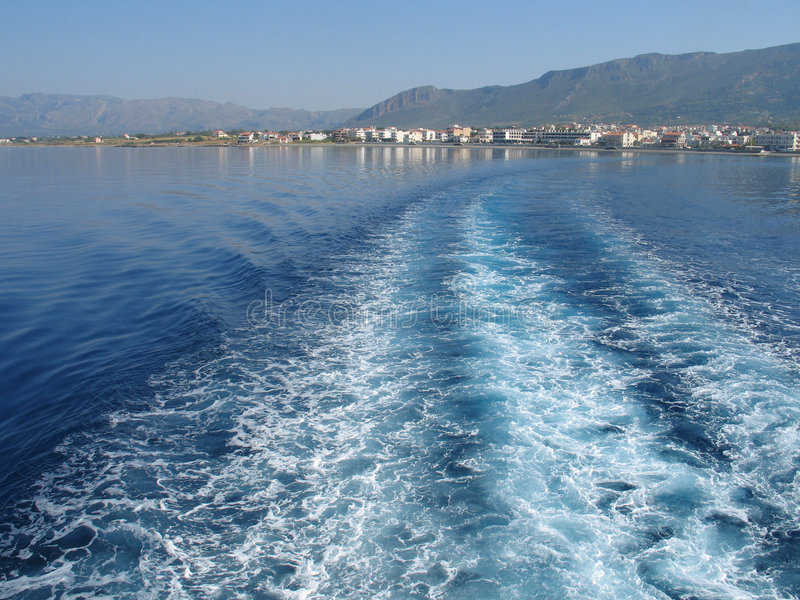 Download Leaving to the Island stock image. Image of wake, summer - 120009