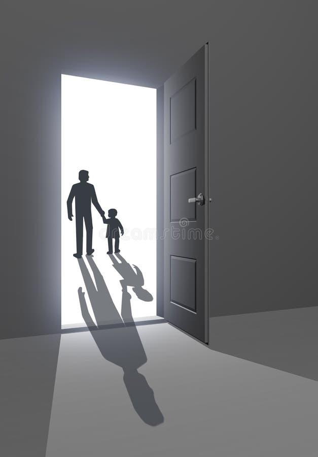 Download Leaving towards unknown stock illustration. Illustration of parenthood - 21346239