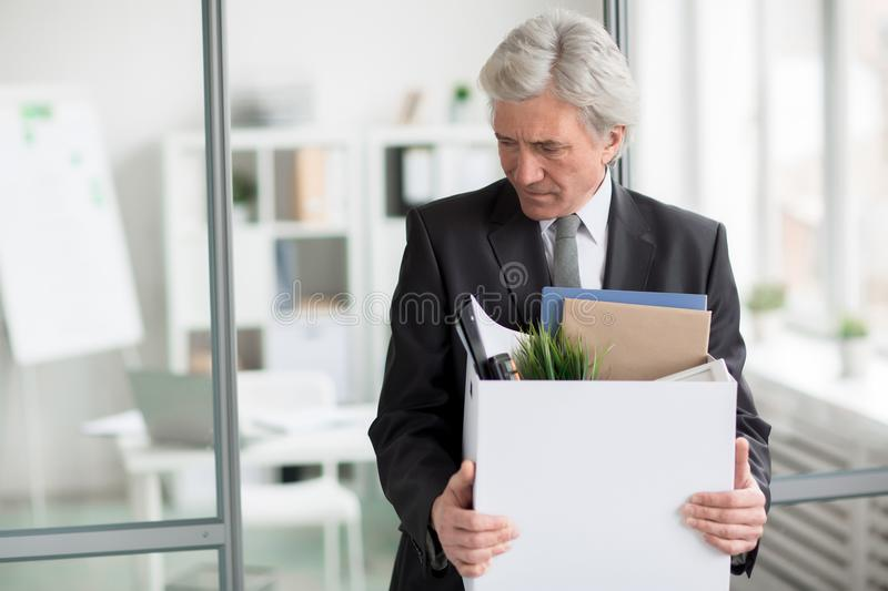 Leaving workplace royalty free stock images
