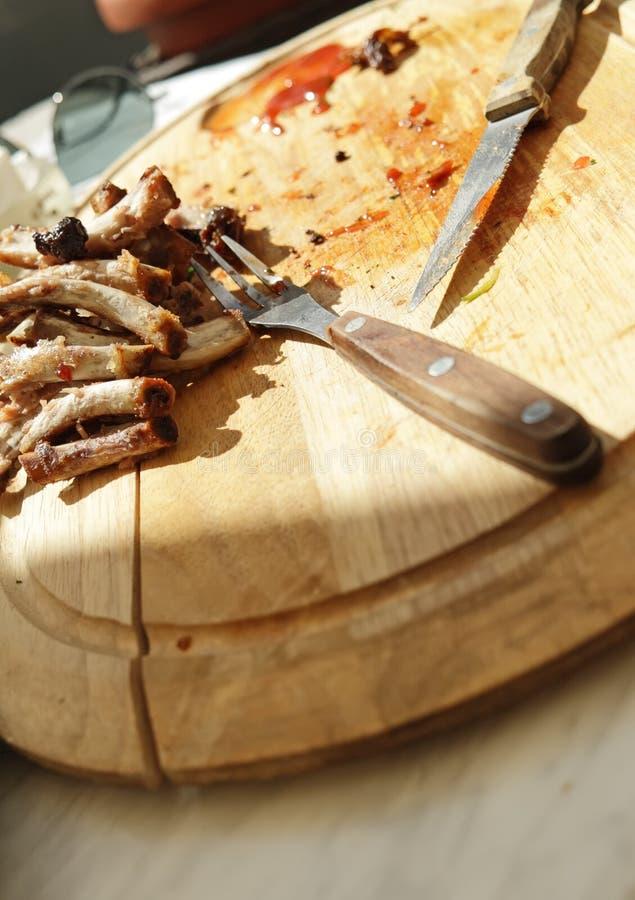Leavings da carne. imagens de stock