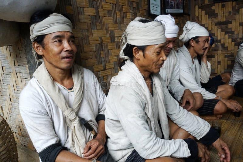 Baduy people do their activities in Kanekes village, Banten, Indonesia. Lebak Banten, West Java Indonesia - April 24, 2018 : Baduy people do their activities in stock images