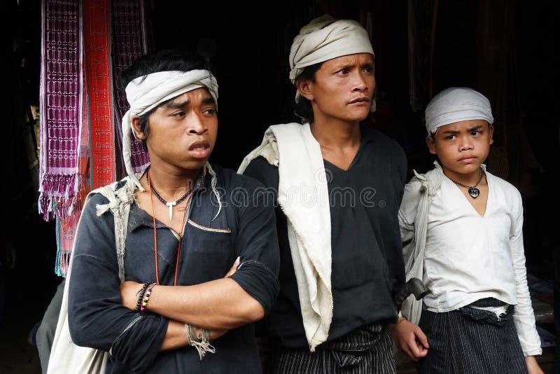 Baduy people do their activities in Kanekes village, Banten, Indonesia. Lebak Banten, West Java Indonesia - April 24, 2018 : Baduy people do their activities in stock photo
