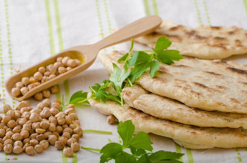 Lebanese bread, pita bread stock image