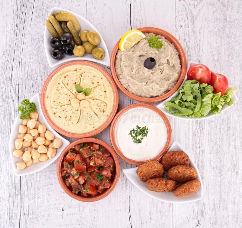 Lebanese food. Close up on lebanese food royalty free stock photo