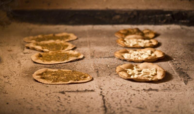 Lebanese manakish / oriental food for breakfast ba stock images